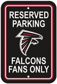 BSI NFL Atlanta Falcons Reserved Parking Sign