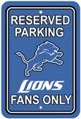 BSI NFL Detroit Lions Reserved Parking Sign