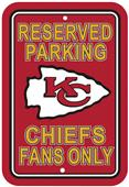 BSI NFL Kansas City Chiefs Reserved Parking Sign