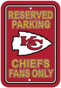 BSI NFL Kansas City Chiefs Reserved Parking Sign