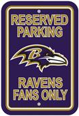 BSI NFL Baltimore Ravens Reserved Parking Sign