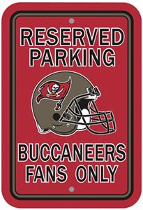 BSI NFL Tampa Bay Buccaneers Reserved Parking Sign