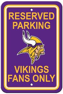 BSI NFL Minnesota Vikings Reserved Parking Sign