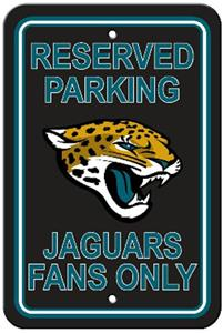 BSI NFL Jacksonville Jaguars Reserved Parking Sign