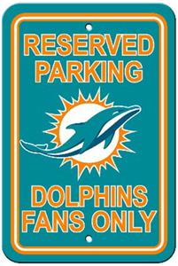 BSI NFL Miami Dolphins Reserved Parking Sign