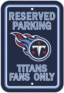 BSI NFL Tennessee Titans Reserved Parking Sign