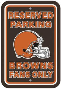 BSI NFL Cleveland Browns Reserved Parking Sign