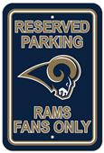 NFL Los Angeles Rams Plastic Reserved Parking Sign