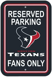 BSI NFL Houston Texans Reserved Parking Sign