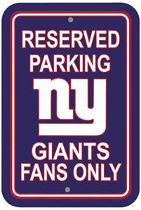 BSI NFL New York Giants Reserved Parking Sign