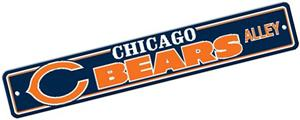 BSI NFL Chicago Bears Plastic Street Sign