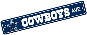 BSI NFL Dallas Cowboys Plastic Street Sign