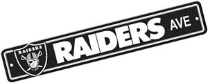 BSI NFL Oakland Raiders Plastic Street Sign