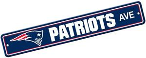 BSI NFL New England Patriots Plastic Street Sign