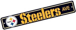 BSI NFL Pittsburgh Steelers Plastic Street Sign