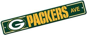 BSI NFL Green Bay Packers Plastic Street Sign