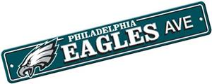 BSI NFL Philadelphia Eagles Plastic Street Sign