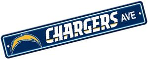BSI NFL San Diego Chargers Plastic Street Sign