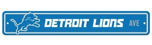 BSI NFL Detroit Lions Plastic Street Sign