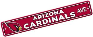 BSI NFL Arizona Cardinals Plastic Street Sign