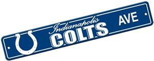BSI NFL Indianapolis Colts Plastic Street Sign