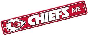 BSI NFL Kansas City Chiefs Plastic Street Sign