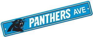 BSI NFL Carolina Panthers Plastic Street Sign