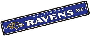 BSI NFL Baltimore Ravens Plastic Street Sign