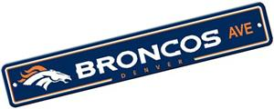BSI NFL Denver Broncos Plastic Street Sign