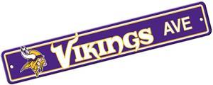 BSI NFL Minnesota Vikings Plastic Street Sign