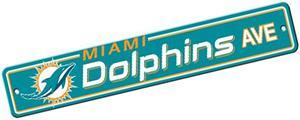 BSI NFL Miami Dolphins Plastic Street Sign