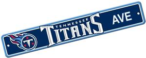 BSI NFL Tennessee Titans Plastic Street Sign