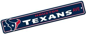 BSI NFL Houston Texans Plastic Street Sign