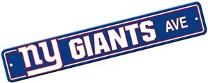 BSI NFL New York Giants Plastic Street Sign