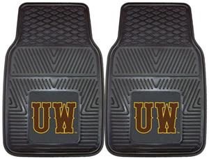 Fan Mats University of Wyoming 2-Piece Car Mats