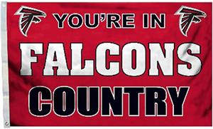 BSI NFL Atlanta Falcons 3'x5' Flag w/Grommets