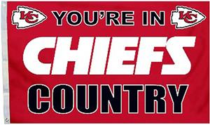 BSI NFL Kansas City Chiefs Country 3' x 5' Flag