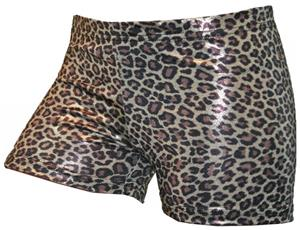 Gem Gear Compression Brown Metallic Leopard Shorts