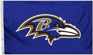 BSI NFL Baltimore Ravens 3' x 5' Flag w/Grommets