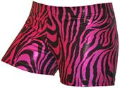 Gem Gear Compression Pink Metallic Zebra Shorts