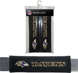 BSI NFL Baltimore Ravens Seat Belt Pads (2Pk)
