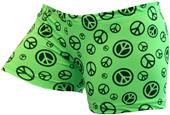 Gem Gear Compression Green Peace Shorts