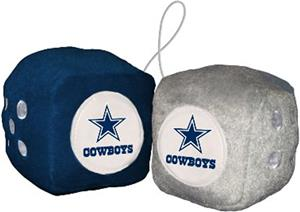 BSI NFL Dallas Cowboys Fuzzy Dice
