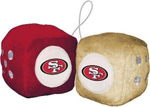 BSI NFL San Francisco 49ers Fuzzy Dice