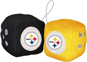 BSI NFL Pittsburgh Steelers Fuzzy Dice