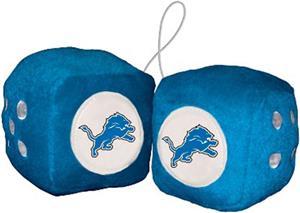 BSI NFL Detroit Lions Fuzzy Dice
