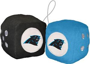 BSI NFL Carolina Panthers Fuzzy Dice