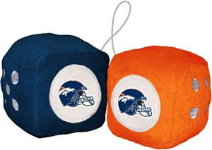 BSI NFL Denver Broncos Fuzzy Dice