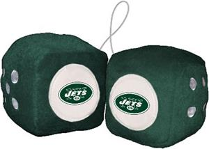 BSI NFL New York Jets Fuzzy Dice