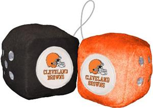 BSI NFL Cleveland Browns Fuzzy Dice